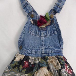 OSH KOSH B'GOSH, 4T, jean dress with rose, skirt